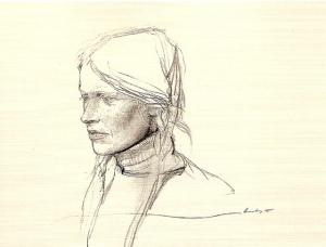 """Braids""  By Andrew Wyeth  Circa 1979  https://www.flickr.com/photos/eoskins/5756713711/"