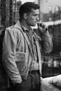 Candid of Jack Kerouac; date unknown (Source: http://www.languageisavirus.com/articles/images/jack-kerouac.png)
