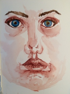 """self Portrait""  Stage One Watercolor"