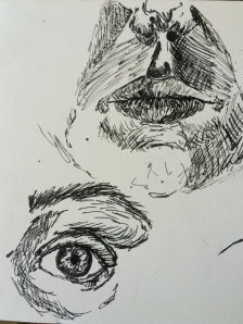 Portrait studies  Pen and Ink