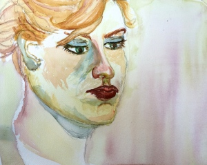 """Caroline"" Watercolor on arches watercolor paper"
