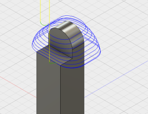 Toolpath for rounded features
