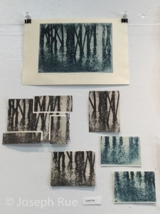 A sampling of my work being displayed at a Westtown gallery show last spring.
