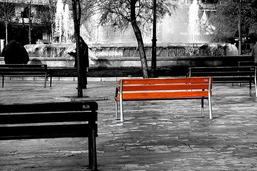 unconventional-park-bench