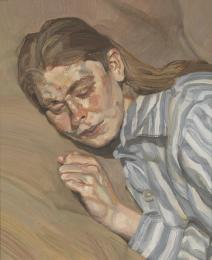 Girl in a Striped Nightshirt by Lucian Freud