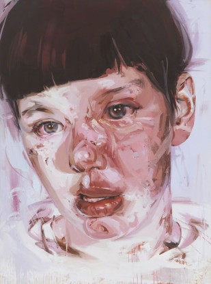 Red Stare Head IV by Jenny Saville