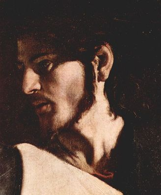 The Appeal of St. Matthew (Detail) by Caravaggio